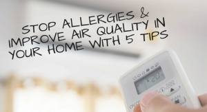 Stop allergies & improve air quality in your home with 5 tips