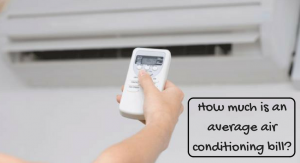 How much is an average air conditioning bill